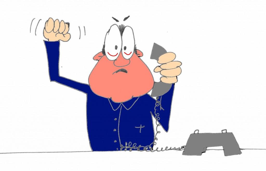Telefontraining Mann Beschwerdemanagement am Telefon