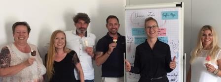 Begeisterte Teilnehmer Telefontraining Kundenservice in Augsburg